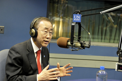 Secretary-General Interviewed by UN News Centre and Radio