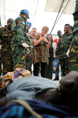 UN Representative in South Sudan Visits Wounded in Jonglei Clashes