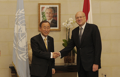 Secretary-General Meets Lebanese Prime Minister in Beirut