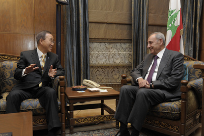 Secretary-General Meets Lebanese Parliament Speaker
