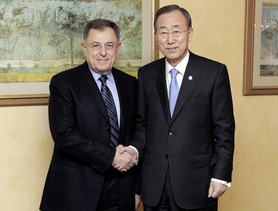 Secretary-General Meets Lebanese Parliamentary Leader