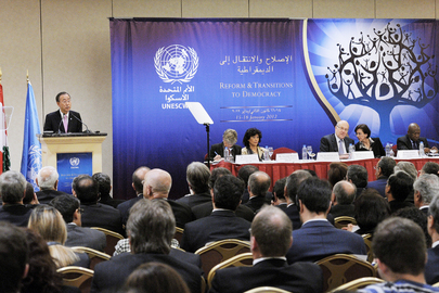 "Secretary-General Addresses ""Reform and Transitions to Democracy Meeting"" in Beirut"
