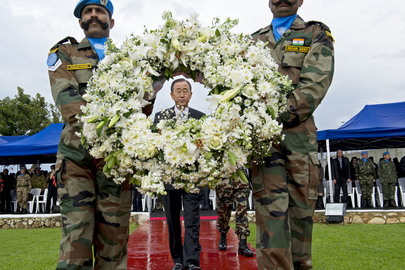 Secretary-General Lays Wreath for Fallen Peacekeepers in Lebanon
