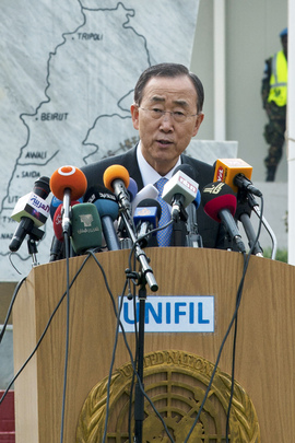Secretary-General Addresses UNIFIL Staff in Naqoura