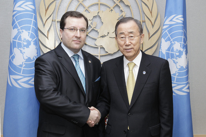 Secretary-General Meets Permanent Representative of Moldova