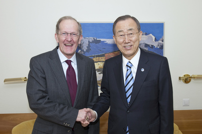 Secretary-General Meets Former General Assembly President in Davos