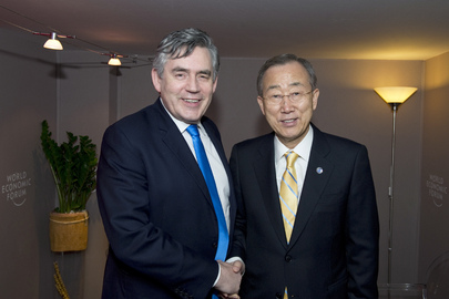 Secretary-General Meets Davos Global Issues Chair