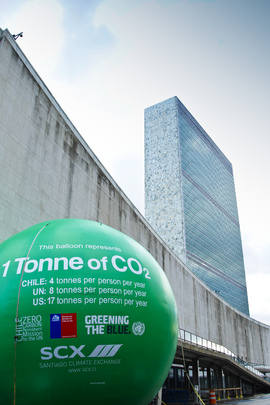 "Massive ""CO2 Balloon"" Highlights Carbon Footprints"
