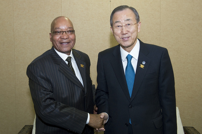 Secretary-General Meets President of South Africa in Addis Ababa
