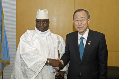 Secretary-General Meets President of Gambia in Addis Ababa