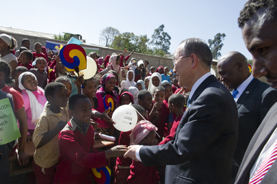 Secretary-General Opens Children's Library in Addis