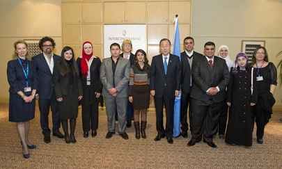 Secretary-General Holds Meeting with Jordanian Youth