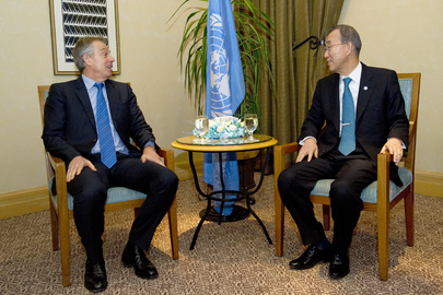 Secretary-General Meets Mideast Quartet Envoy in Amman