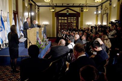 Secretary-General and Israeli President Brief Press in Jerusalem