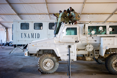 UNAMID's Rwandan Troops at Work in North Darfur