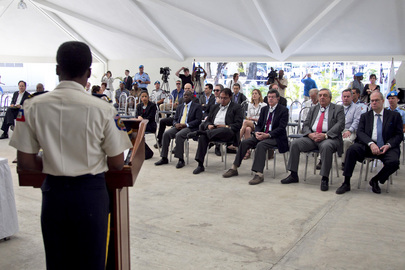 Security Council Mission to Haiti Visits Police Academy