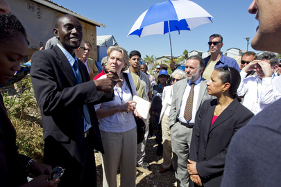 Security Council Mission to Haiti Visits Camp for Internally Displaced