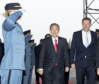 Secretary-General Arrives at Vienna International Centre