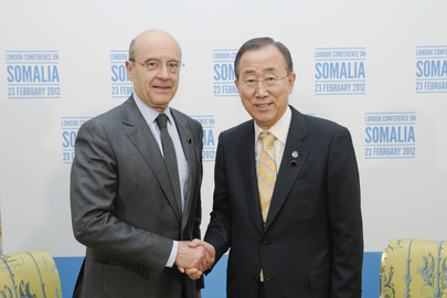 Secretary-General Meets French Foreign Minister at London Conference on Somalia 