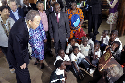 Secretary-General Visits Fountain of Hope Centre in Lusaka, Zambia