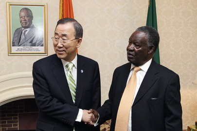 Secretary-General Meets President of Zambia in Lusaka