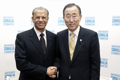 Secretary-General Meets Prime Minister of Mauritius at London Conference on Somalia