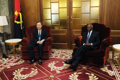 Secretary-General Meets Angolan President in Luanda