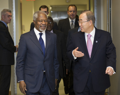 Secretary-General Meets Kofi Annan, New UN-Arab League Envoy on Syria