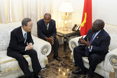 Secretary-General Meets Speaker of Angolan Parliament