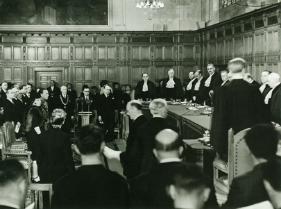 Inaugural Session of the International Court of Justice at The Hague