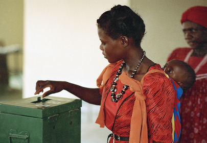 Voting at the Polling Station at Odangwa
