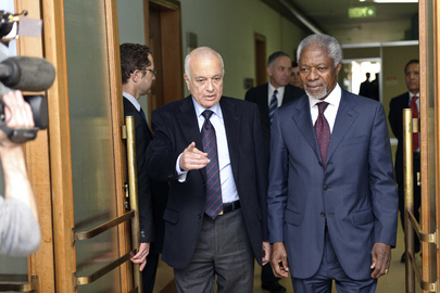 Joint Special Envoy on Syria Meets Arab League Chief in Geneva