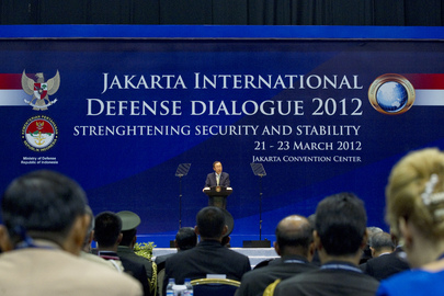 Secretary-General Delivers Keynote Speech at Jakarta Defense Conference