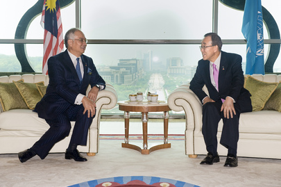 Secretary-General Meets Malaysian Prime Minister