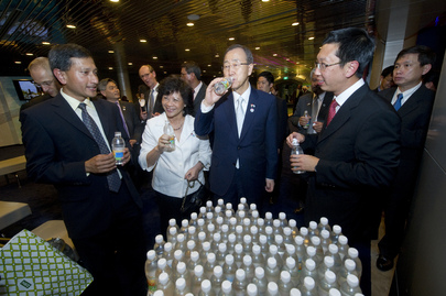 Secretary-General Visits NEWater Complex in Singapore