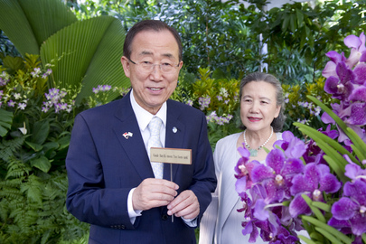 Singapore Names Orchid after Secretary-General and Wife