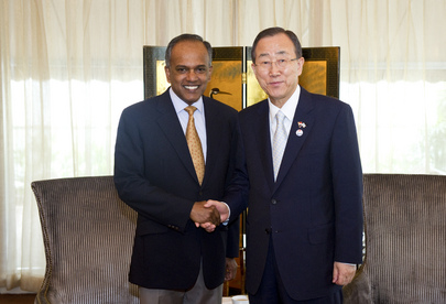 Secretary-General Meets Foreign Minister of Singapore