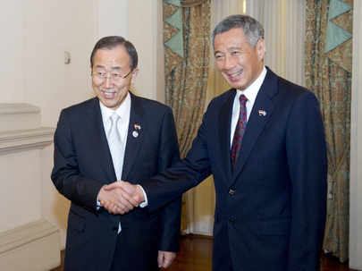 Secretary-General Meets Prime Minister of Singapore