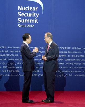 Secretary-General Arrives at Seoul Nuclear Summit