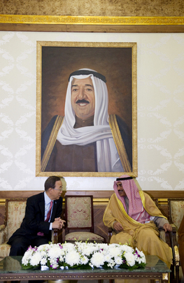 Secretary-General Meets Kuwaiti Foreign Minister