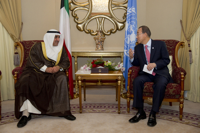 Secretary-General Meets Director of Kuwait Fund for Arab Development