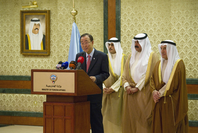 Secretary-General Briefs Media in Kuwait City