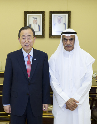 Secretary-General Meets Speaker of Kuwaiti National Assembly