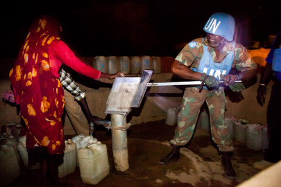 Peacekeepers on Night Patrol to Stem Banditry in Darfur Camp