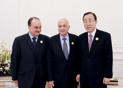 Secretary-General Meets Arab League Chief and Deputy Joint Representative on Syria
