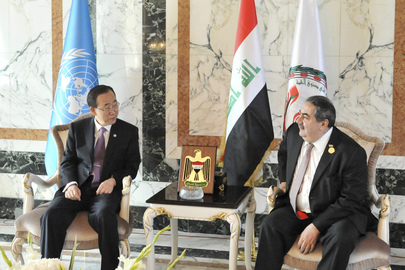 Secretary-General Meets Iraqi Foreign Minister in Baghdad