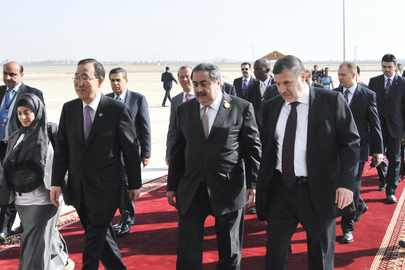 Secretary-General Arrives in Baghdad, Iraq