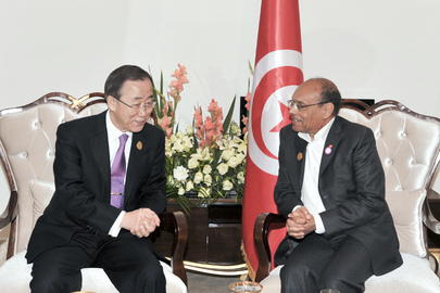 Secretary-General Meets President of Tunisia in Baghdad