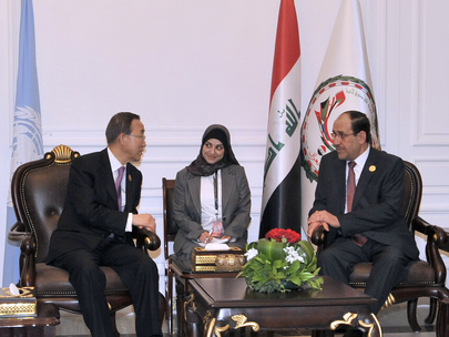 Secretary-General Meets Iraqi Prime Minister in Baghdad