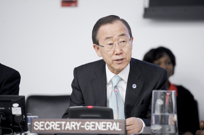 Secretário-Geral da ONU, Ban Ki-moon, em discurso na abertura da Comissão sobre População e Desenvolvimento em Nova York.